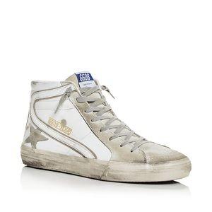 Golden Goose Deluxe Men's Slide High Top Sneakers